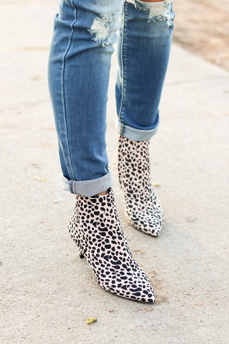 Tristin Fur-Trimmed Wedge Bootie