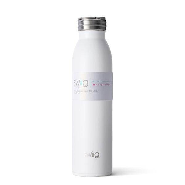 20oz SWIG Water Bottle in Matte White