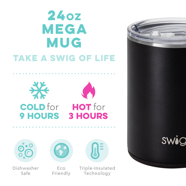 24 oz SWIG Mega Mug in Matte Black