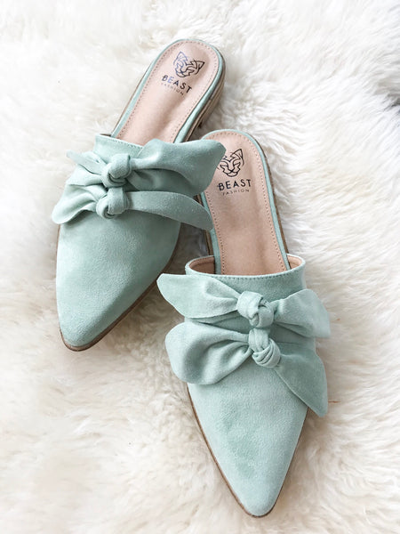 Everly Mules in Mint