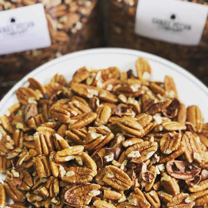 Cracked and Blown Pecans