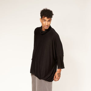 Hi Neck Box Top - Black