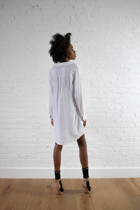 WHITE OVERSIZE SHIRTING