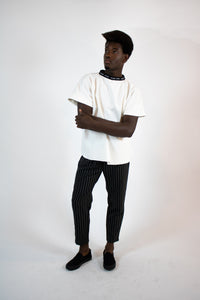 BW striped relax pant