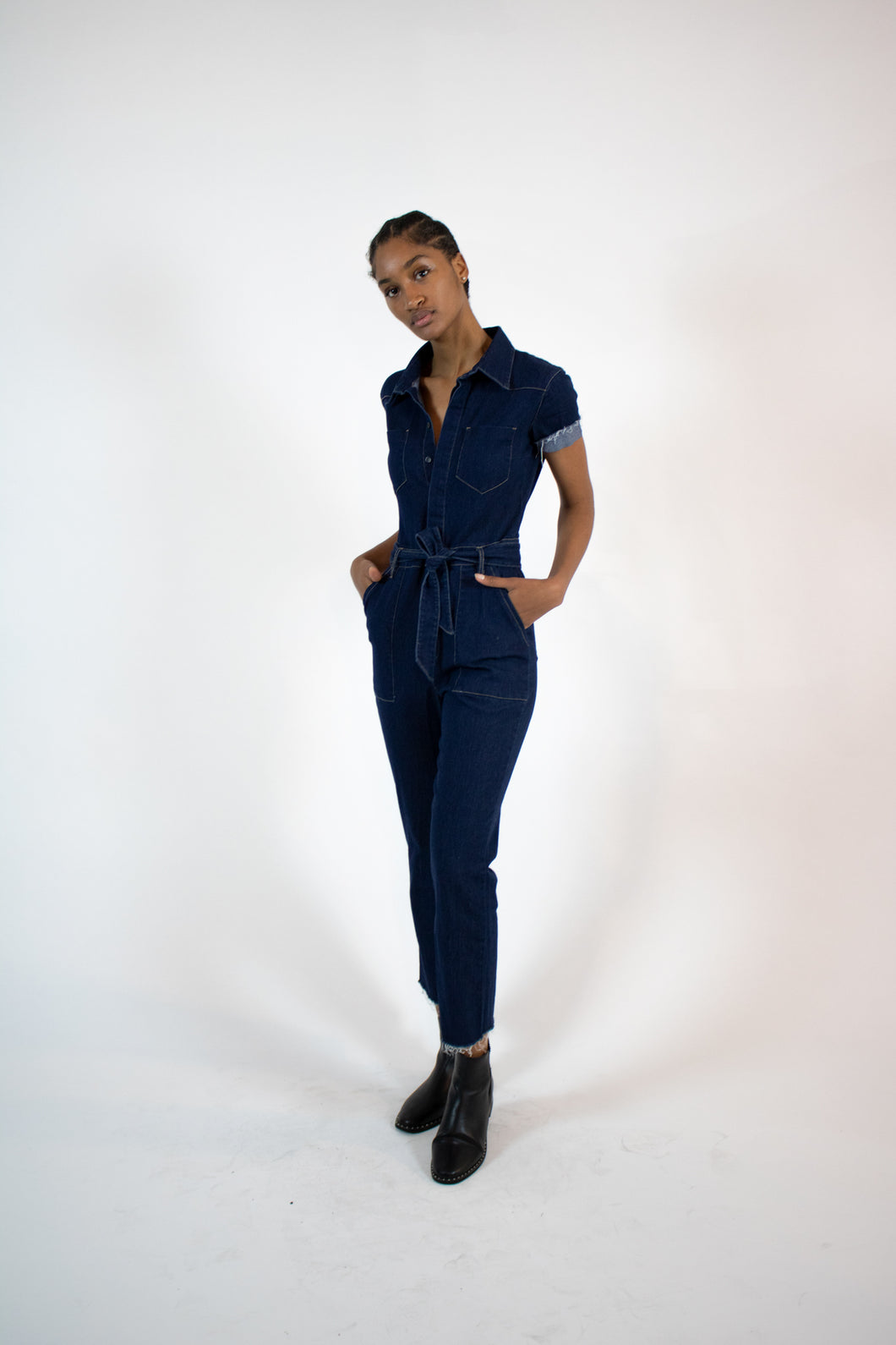 perfect denim jumpsuit