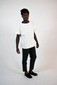heavy cream branded crew neck tee