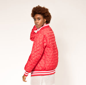 Full Zip - Red Quilted
