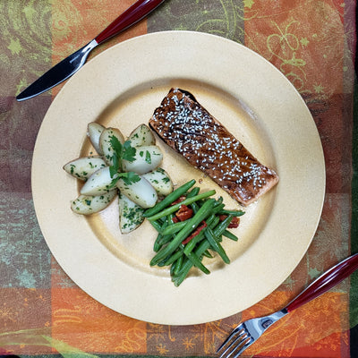 Maple Grilled Salmon with Sesame