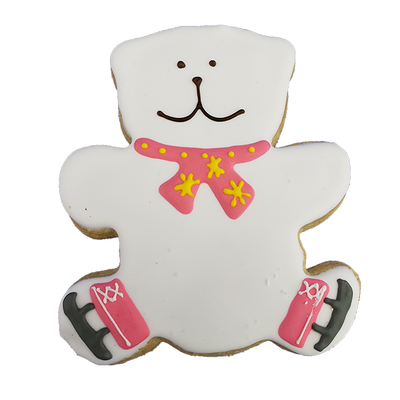 Skating Bear Cookie