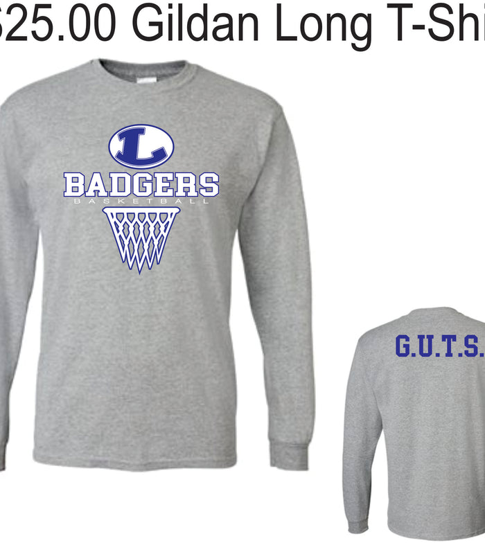 Lampasas Basketball Long Sleeve Shirts