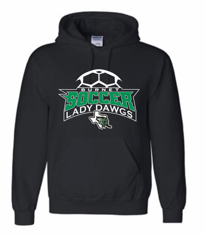 Lady Dawg Soccer Hooded Sweatshirt