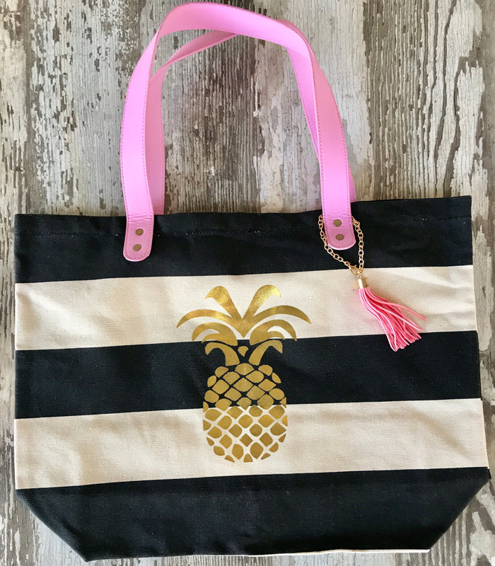 Pineapple Stripe Tote