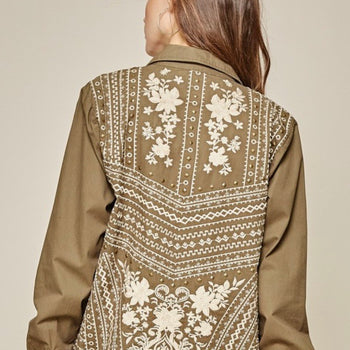 Olive Embroidery Jacket