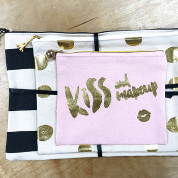 Kiss and Makeup Bags