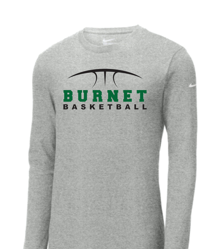 Copy of Copy of Copy of Burnet Basketball Nike Core Long Sleeve Pre Order only