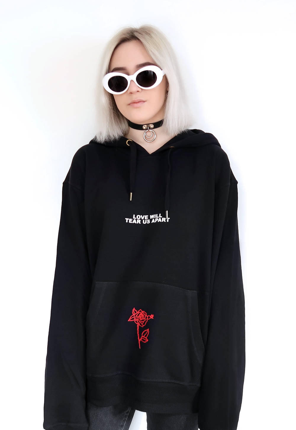 """Over You"" Embroidered Hoodie"
