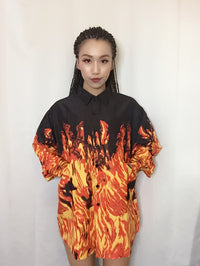"""Flame"" Button Up"