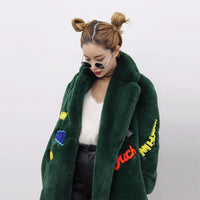 """OMG"" Faux Fur Coat"