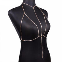"""Ice Cold"" Rhinestone Body Chain"