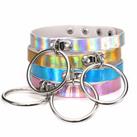 """Kandi"" Holographic Ring Choker Necklace"