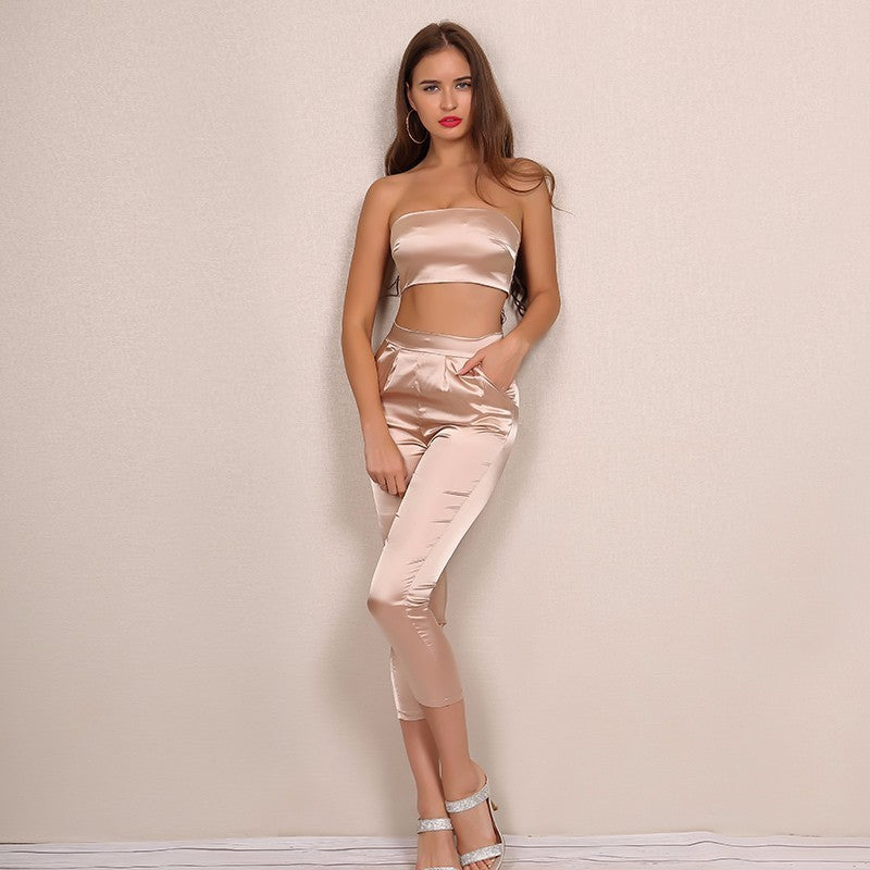 """Baby"" Satin Jumpsuit Set"