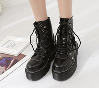 """Wednesday"" Women's Military Boots"