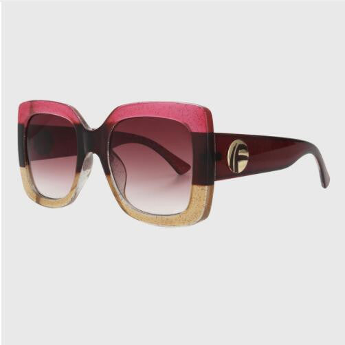 """Its All Gucci"" Large Square Frame Sunglasses"