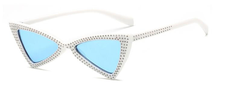 """40 Bands"" Rhinestone Butterfly Frame Sunglasses"
