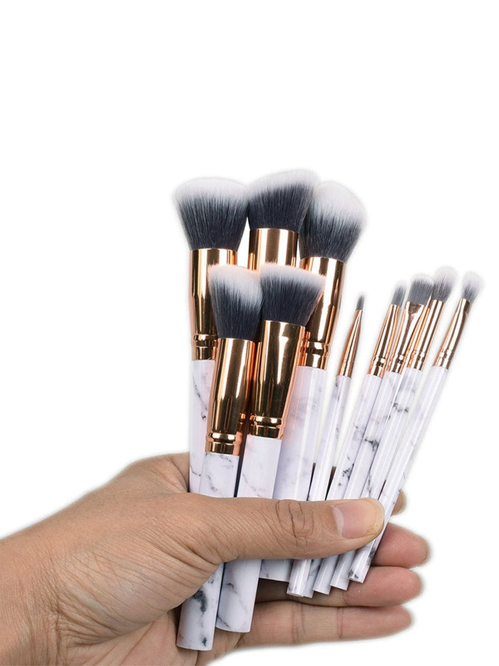 """Marble"" Synthetic Hair Makeup Brushes 