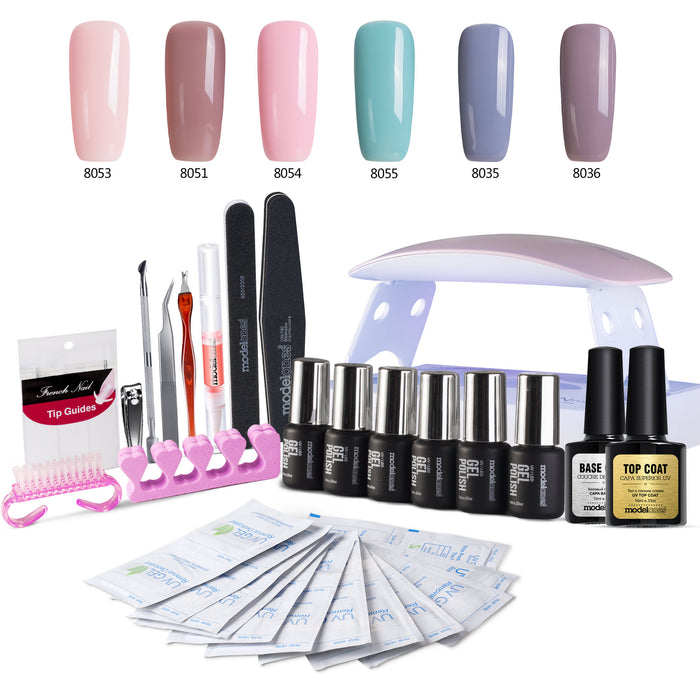 """Mani"" Gel Nail Polish Kit With Drying Lamp"