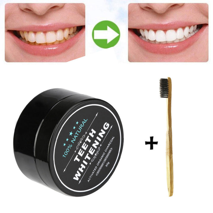 """Activated Charcoal Teeth Whitening Toothpaste Kit"""