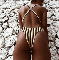 """Boogie Nights"" 70's Inspired One Piece Swimsuit."