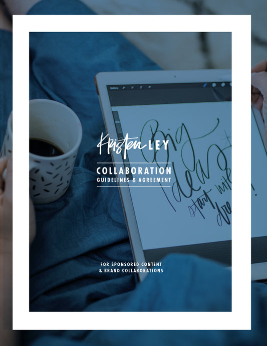 Collaboration Guidelines & Agreement Template - kristenley.com - Kristen Ley - Thimblepress