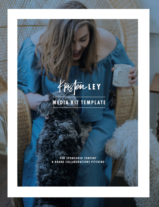 Media Kit Template - kristenley.com - Kristen Ley - Thimblepress