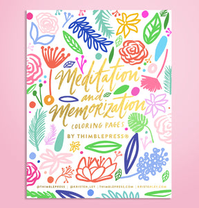 Meditation & Memorization Coloring Book