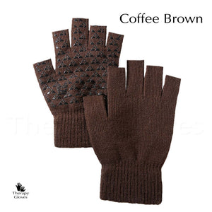 Where to buy Silicone Palm Grips Knitted Gloves - Coffee Brown