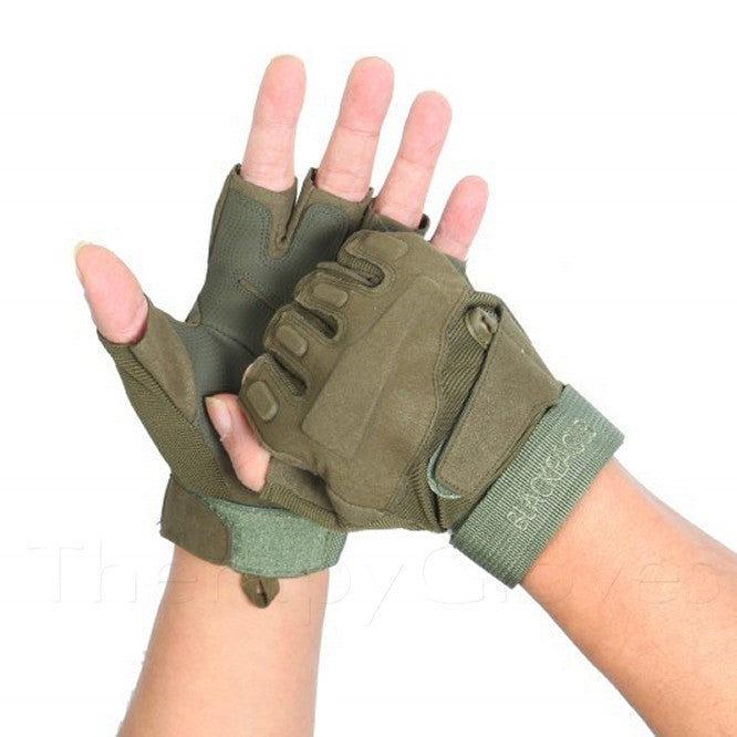 Where to buy Military Tactical Half Finger Anti-slip Gloves - Army Green