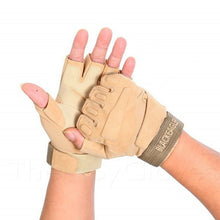 Buy Military Tactical Half Finger Anti-slip Gloves - Army Tan