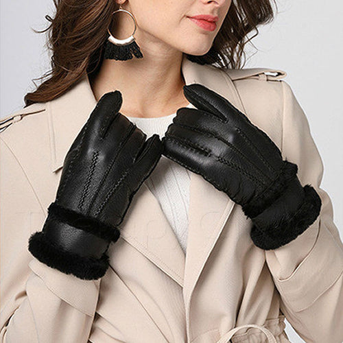 Fashion Sheepskin Gloves for Women - Warm Your Cold Hands