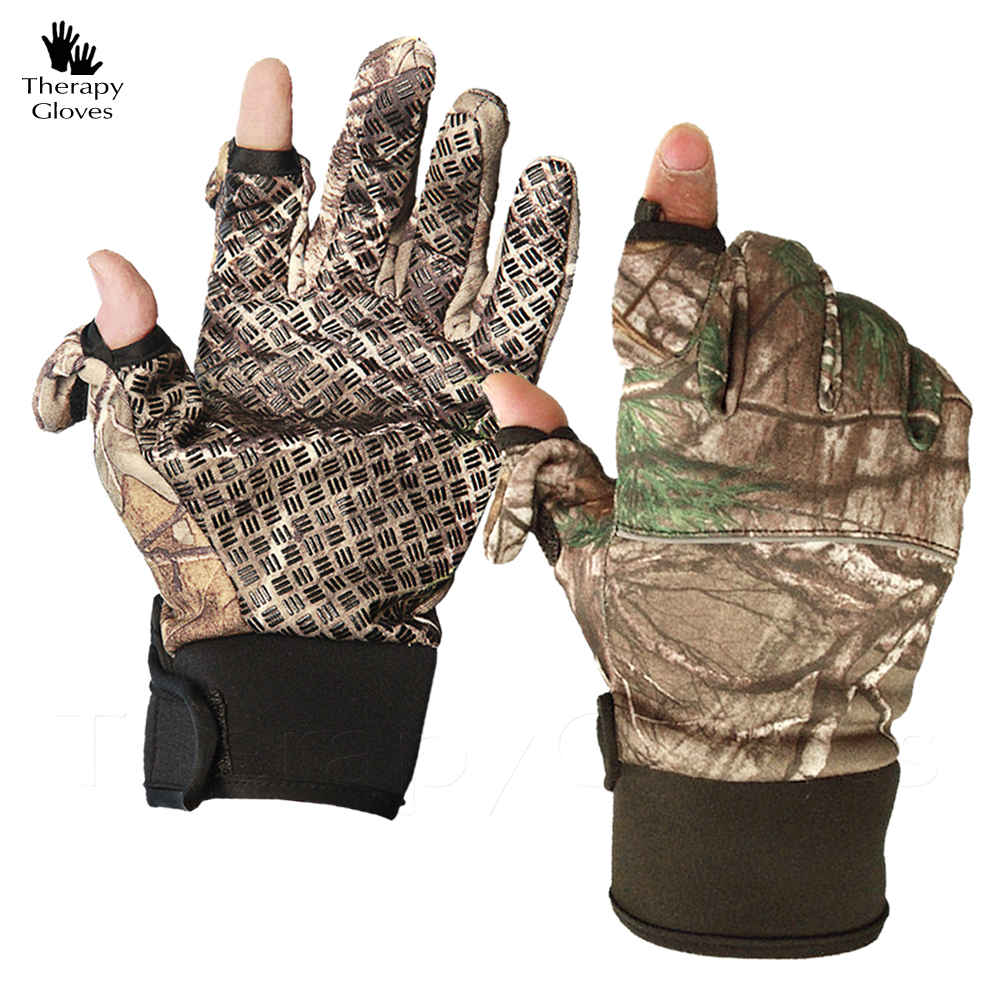 Men's Camouflage Gloves Anti-Slip 2 Fingers Opening Option (pair)