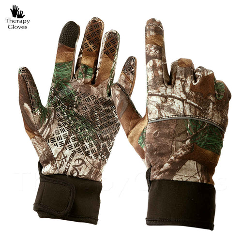 Camo Anti-Slip Outdoor Sport Gloves - Full Finger for Me