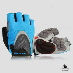 Half Finger Summer Cycling Gloves - Sports Gloves in Blue