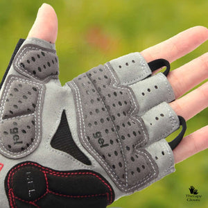 Close Up Half Finger Cygling Gloves with Silicone Shock Pads