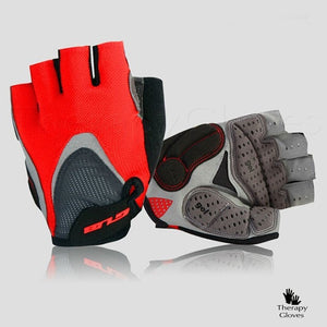 Red Half Finger Summer Cycling Gloves - Sports Gloves
