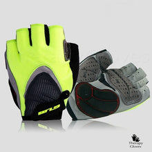 Bright Green Half Finger Summer Cycling Gloves - Sports Gloves
