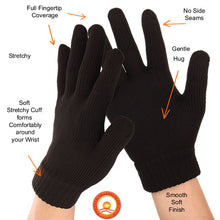 Features of the FULL FINGERTIP STRETCHY KNIT Far Infrared Therapy Gloves