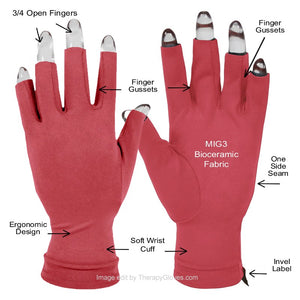 Features of the Far Infrared 3/4 Finger Actiive Gloves