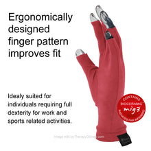 Far Infrared 3/4 Finger Actiive Gloves are Ergonomically Designed