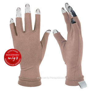 Far Infrared 3/4 Finger Actiive Gloves Beige