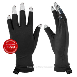 Far Infrared 3/4 Finger Actiive Gloves in Black